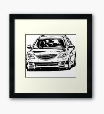Mazda6 GH & quot; Dirty Style & quot; Framed Print