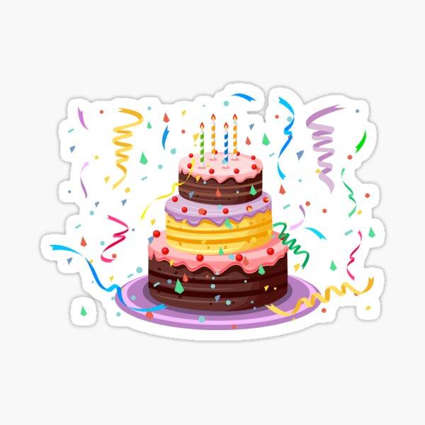 Pastel de cumpleaños Pegatina