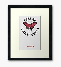 Off-White Free As A Butterfly  Framed Print