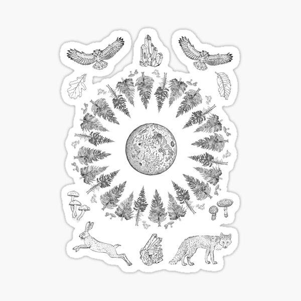 Forest magic Sticker