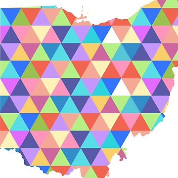 Ohio State Colorful Geometric Triangles Hipster by CorrieJacobs