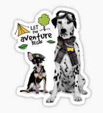 Aventure with my dad. Sticker