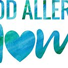 Food Allergy Mom Teal Watercolor Typography by SamAnnDesigns