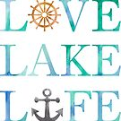 Love Lake Life Ship Anchor Nautical Typography by SamAnnDesigns