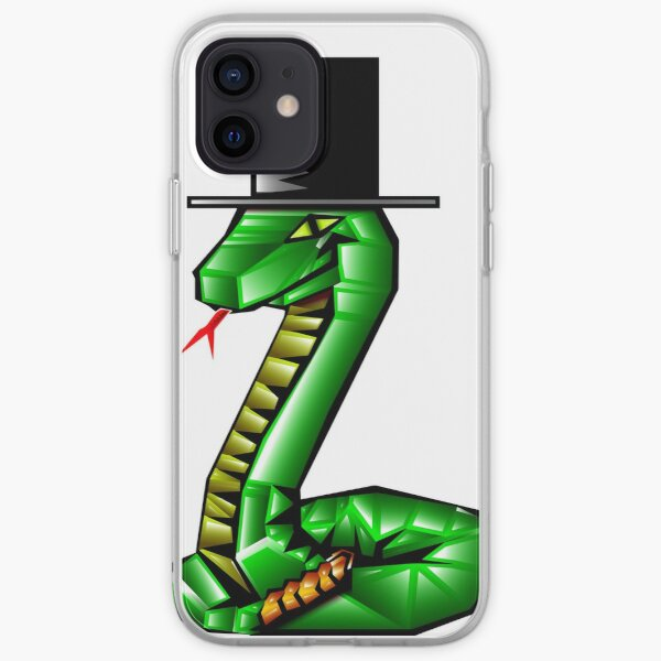 Snake with a top hat iPhone Soft Case