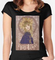 Stevie Nicks Illustration Tailliertes Rundhals-Shirt
