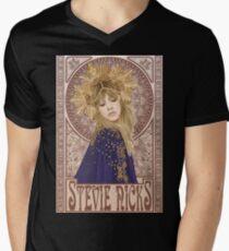 Stevie Nicks Illustration T-Shirt mit V-Ausschnitt