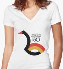 Western Australia 150 Women's Fitted V-Neck T-Shirt