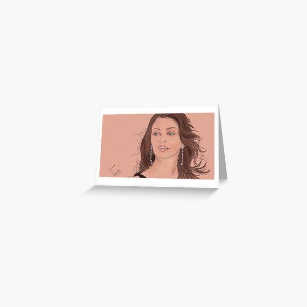 Aishwarya rai bachchan_artwork ::made with digitizer Greeting Card