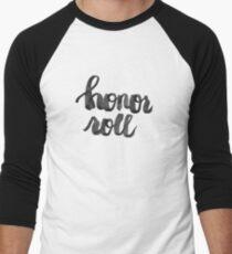 honor roll - ink brush Men's Baseball ¾ T-Shirt