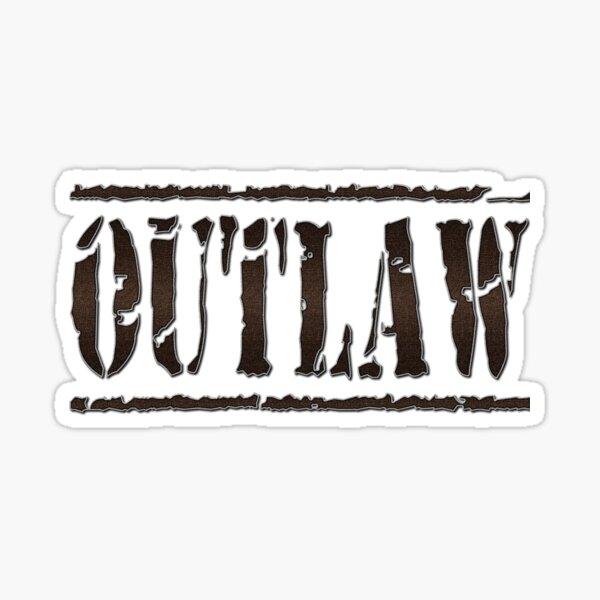 Outlaw Western  Sticker