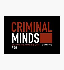 criminal minds logo Photographic Print