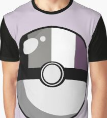 Asexual Pride Poké Ball Graphic T-Shirt