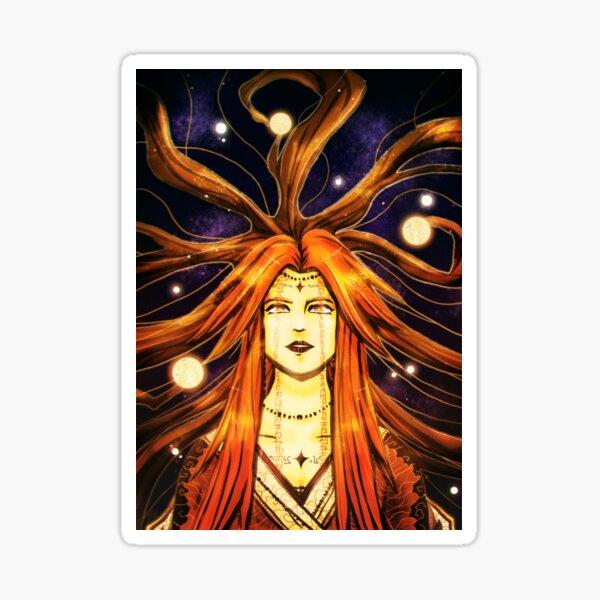 Lady of the Dawn Sky Sticker