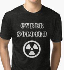 Cyber Soldier Hacking Fun T-shirt Tri-blend T-Shirt