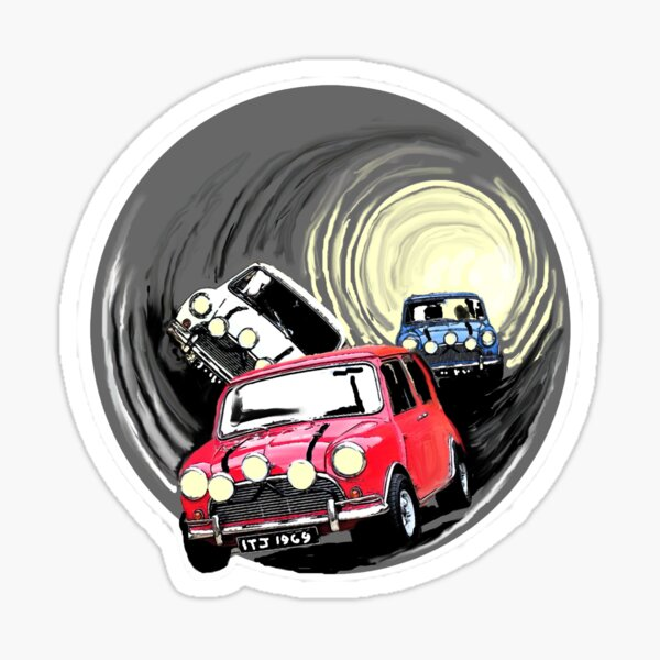 The Italian job minis escaping in the sewer Sticker
