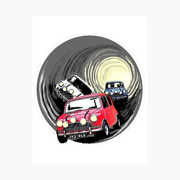 The Italian job minis escaping in the sewer Photographic Print
