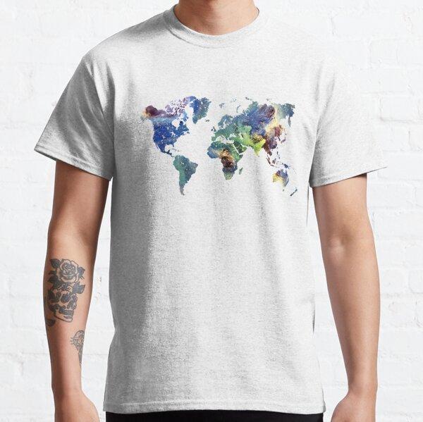 World map cosmos #map #worldmap Classic T-Shirt