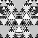 Monochrome, Sierpinski Triangle 004 by Rupert Russell
