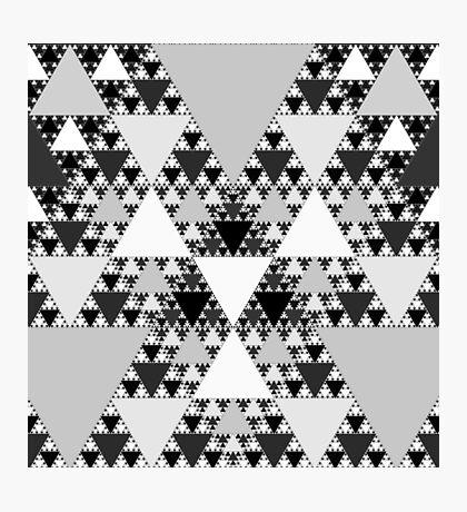 Monochrome, Sierpinski Triangle 004 Photographic Print