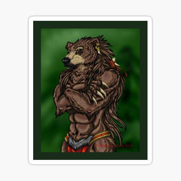 Gruff Grizzly Sticker