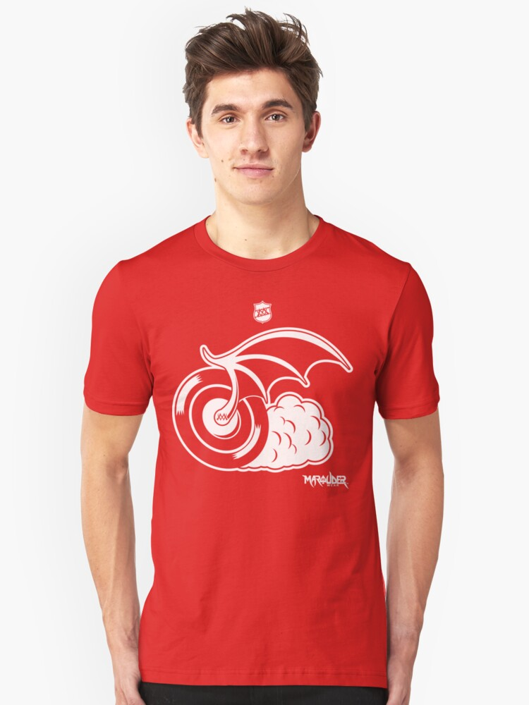 Blood Red Wings Hockey Unisex T-Shirt Front