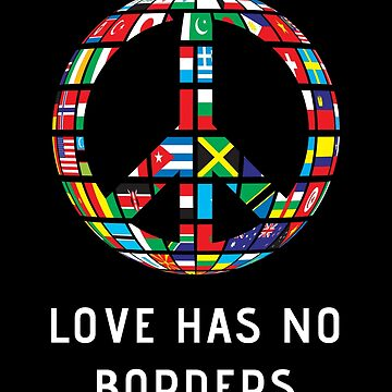 Immigration March T Shirt Love Has No Borders Graphic Tee by nfarishta