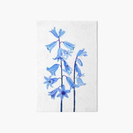 Botanical bluebells flower watercolor Art Board Print
