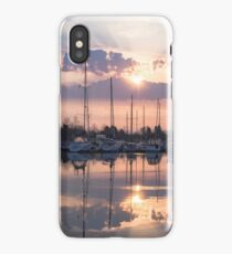 Softly - God Rays and Yachts in Rose Gold and Amethyst iPhone Case