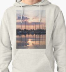 Softly - God Rays and Yachts in Rose Gold and Amethyst Pullover Hoodie