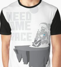 Lonely astronaut on a meteor Graphic T-Shirt