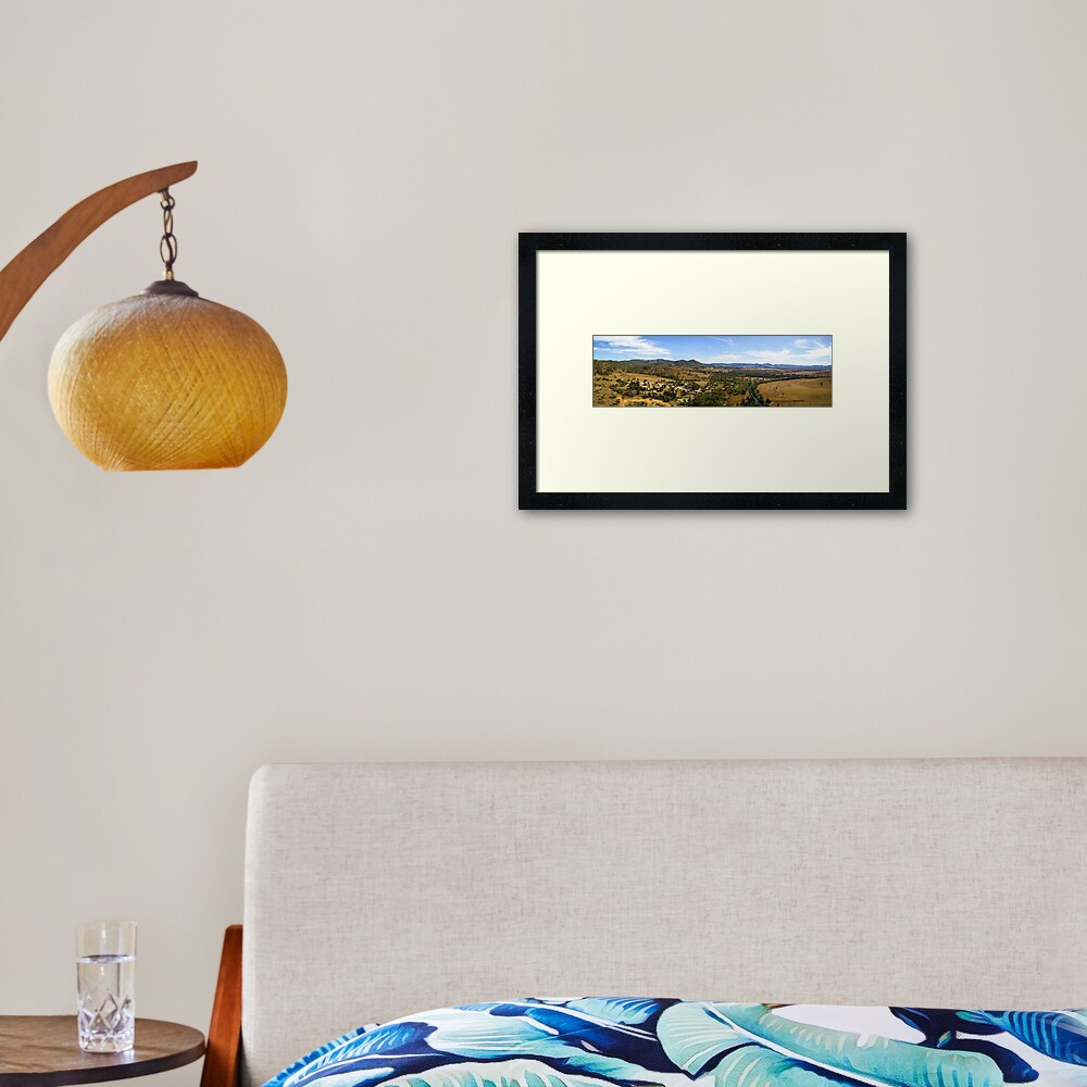 Kilkivan Bush Camping Framed Art Print