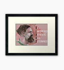 Beard Character Framed Print
