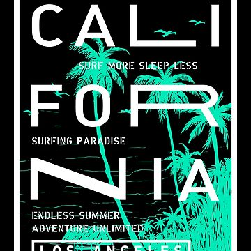 California Surfing Paradise Summer Lover Gift by 91design