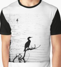 Birds at the Lake Graphic T-Shirt