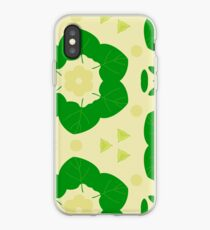 texture leaves pattern leaves pattern seamless colorful repeat iPhone Case