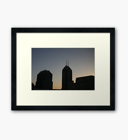 A New Day In The City Framed Print