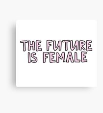 the future is female Canvas Print