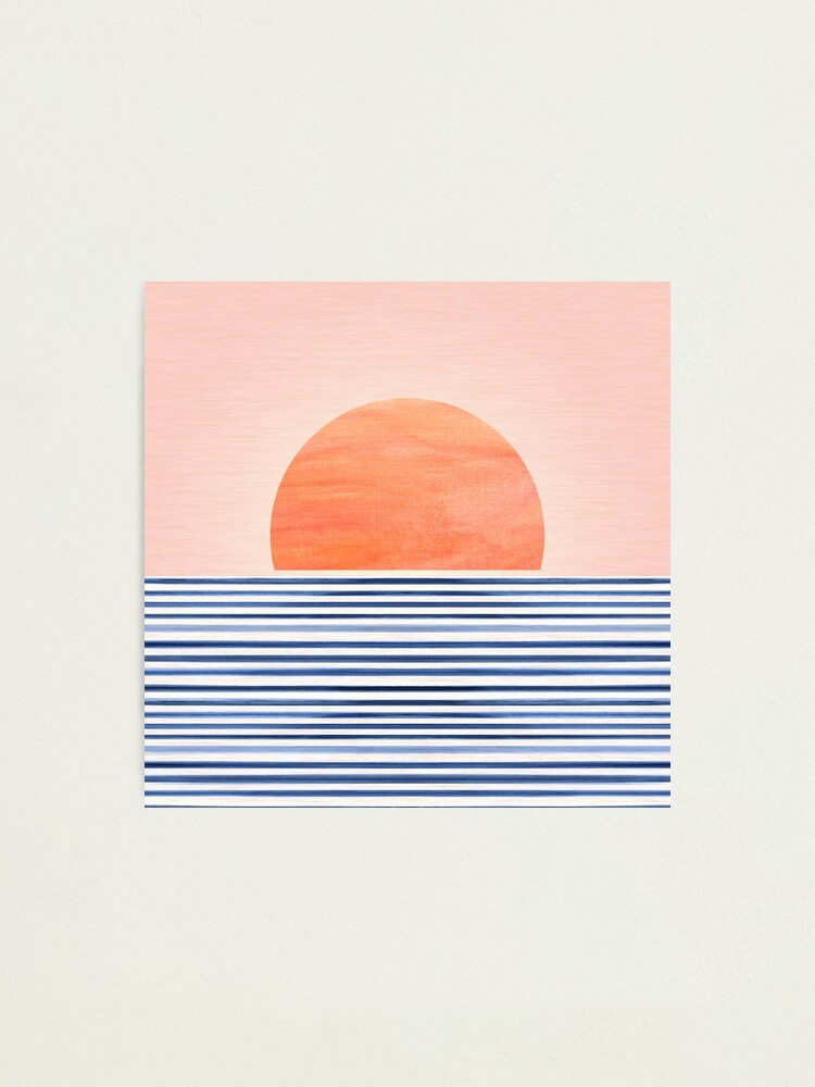 Alternate view of Mid Century Beach Sunset Design Photographic Print