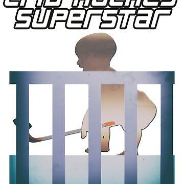 Crib Hockey Superstar - Hockey Player Baby by merchhost