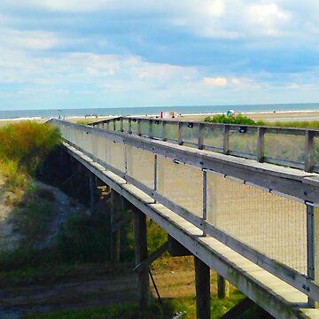 """Bridge to Beauty"", Photo / Digital Painting by KJACDesigns"