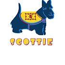 Blue Scottie Scottish Terrier Dog by wmr2