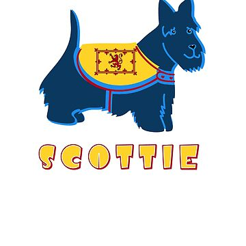 Blue Scottie Scottish Terrier Dog by wmr2