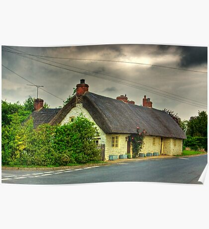 Thatched Country Cottage - Harome Poster