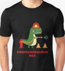Firemanosaurus Rex - T-Rex Tyrannosaurus Rex Dinosaur Unisex T-Shirt