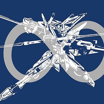 Infinite Justice Gundam #4 - Light Grey - Gundam SEED Destiny by saintism