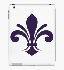 A simple fleur-de-lis pattern in purple iPad Case/Skin