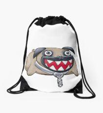 Pug Chomp Drawstring Bag