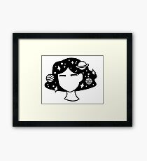 Spacey Girl Framed Print