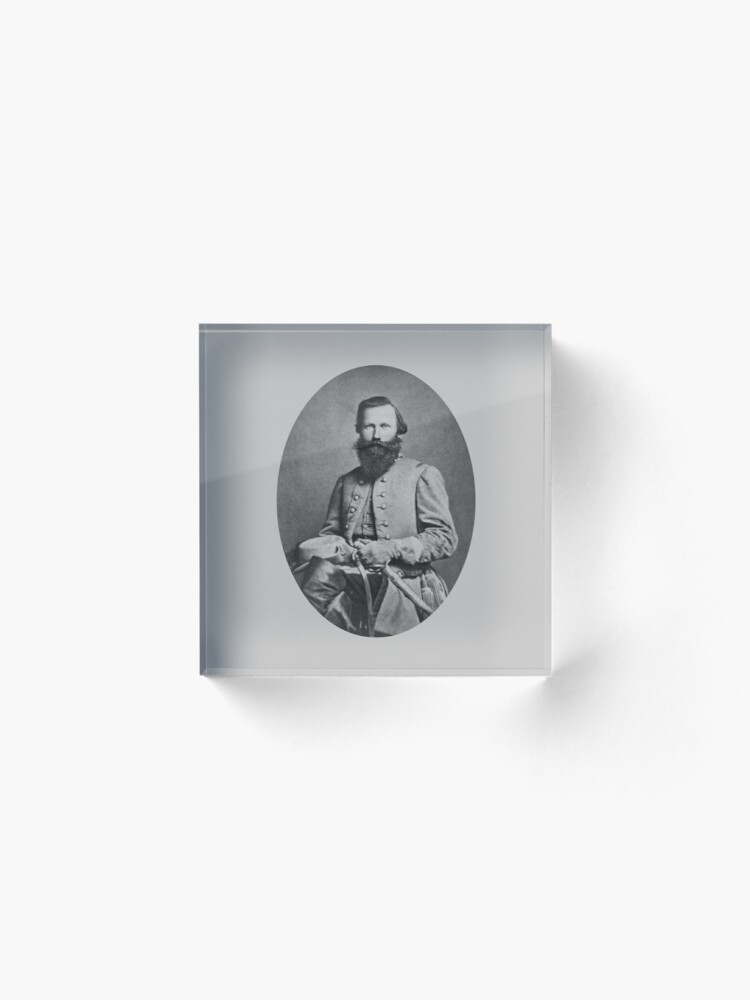 Vista alternativa de Bloque acrílico General J.E.B. Stuart - General del ejército confederado